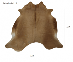 Tapete de couro de boi legítimo, ref. 210